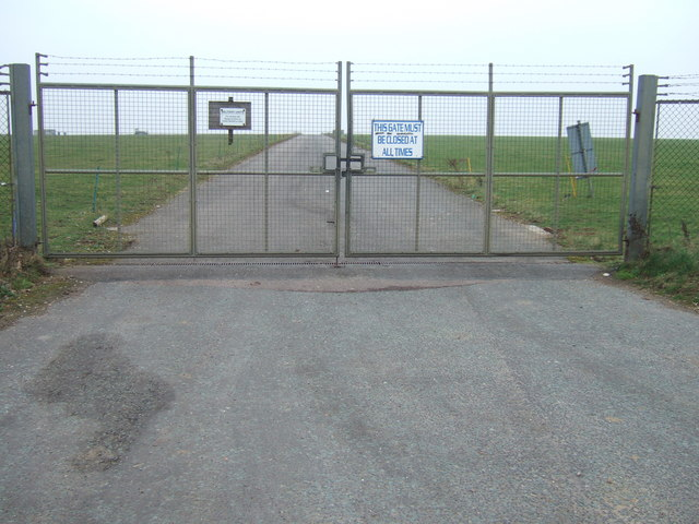 Locked gates at Sculthorpe Airfield, Norfolk