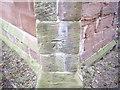 SJ4474 : Cut Mark: St Mary's Church, Thornton Le Moors by VBForever