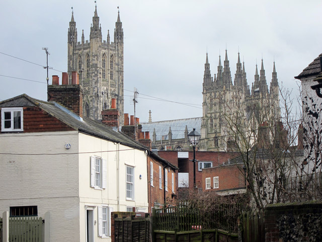 Mill Lane and Canterbury Cathedral