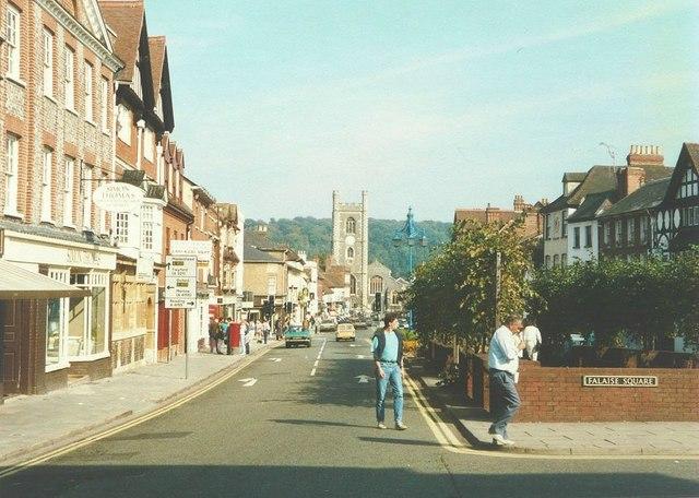 Hart Street (A4130), Henley-on-Thames in 1986 by John Baker