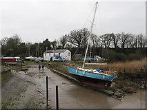 SO6501 : Avon Grace on the slipway at Lydney Yacht Club by Gareth James