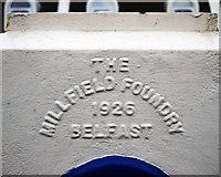 J3272 : Foundry inscription, Belfast by Rossographer