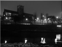 NS4863 : Night View of Paisley Abbey and Abbey Close by Tom Pattison