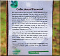 "J3268 : ""Firewood"" sign, Minnowburn, Belfast by Albert Bridge"
