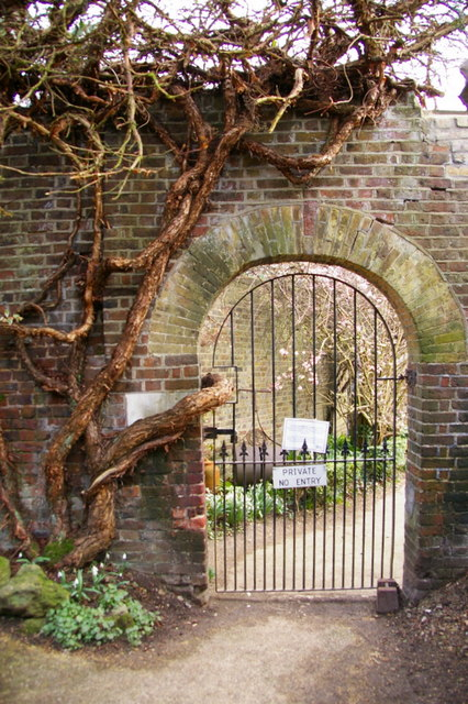 Gate Entrance to Kitchen Garden, Myddelton House, Enfield