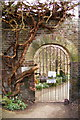 TQ3499 : Gate Entrance to Kitchen Garden, Myddelton House, Enfield by Christine Matthews