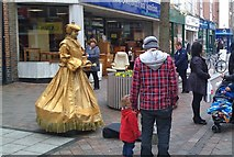 SK5236 : Living statues come to Beeston by David Lally