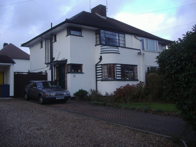 art deco house on boxtree road harrow david howard geograph