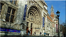 TQ2779 : Grand entrance to Victoria & Albert Museum, Kensington by Anthony O'Neil