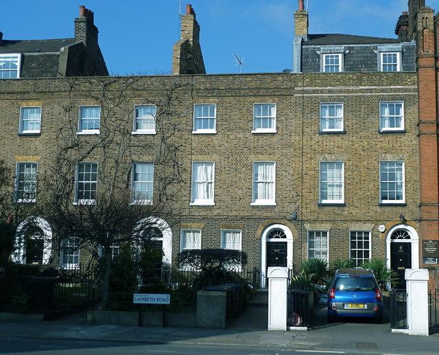 Georgian terrace on Lambeth Road, London