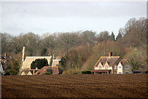 SU2991 : Fernham Village from Barrowbush Hill by Des Blenkinsopp