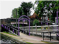 SP0581 : Canal towpath and Bournville Station, Birmingham by Roger  Kidd