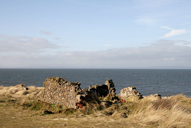 The ruins of Red House at Jamie's Neuk