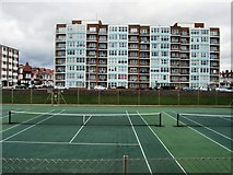 TQ2704 : Tennis Courts - Hove Seafront by Paul Gillett
