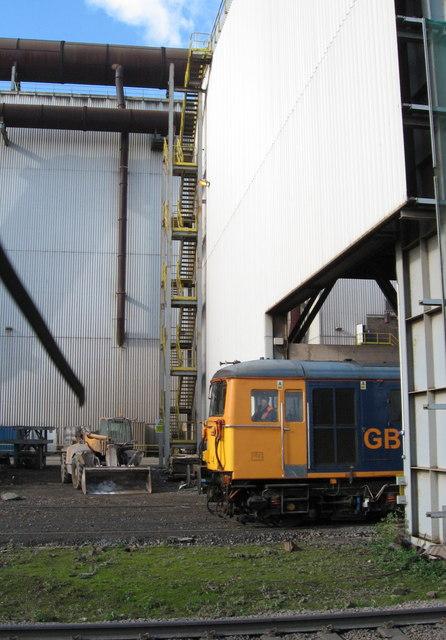 Rail unloading bay, Celsa Works by Gareth James