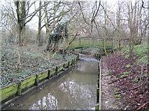 TQ2688 : Mutton Brook in Hampstead Garden Suburb by Nigel Cox