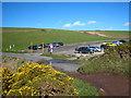 SX3952 : Car Park at Sharrow Cliff by Rod Allday