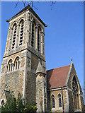 TQ1974 : Christ Church, East Sheen: tower by Stephen Craven