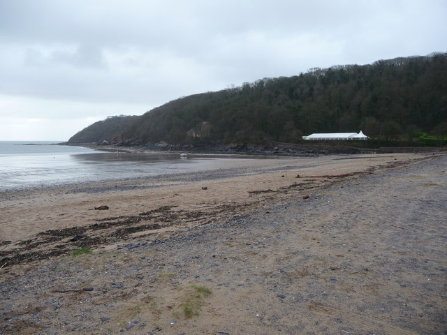 The south western end of Oxwich Bay beach