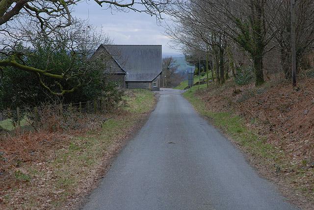 Northern approach to Aberangell