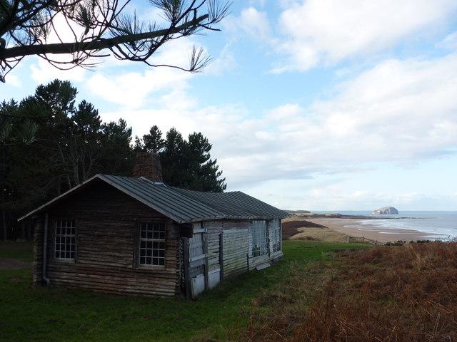 Coastal East Lothian : Ravensheugh Log Cabin, Tyninghame by Richard West