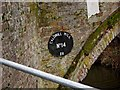 SO8276 : Caldwall Mill Bridge (No. 14) - name plaque, Staffs & Worcs Canal, Kidderminster by P L Chadwick