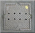 SE1126 : Manhole cover, Upper Lane, Northowram by Humphrey Bolton