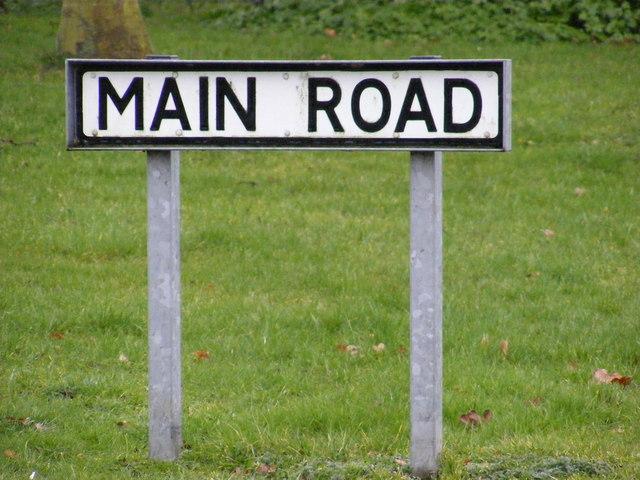 Main Road sign