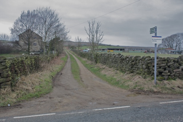 Footpath to Burley Moor from Hillings Lane , Menston
