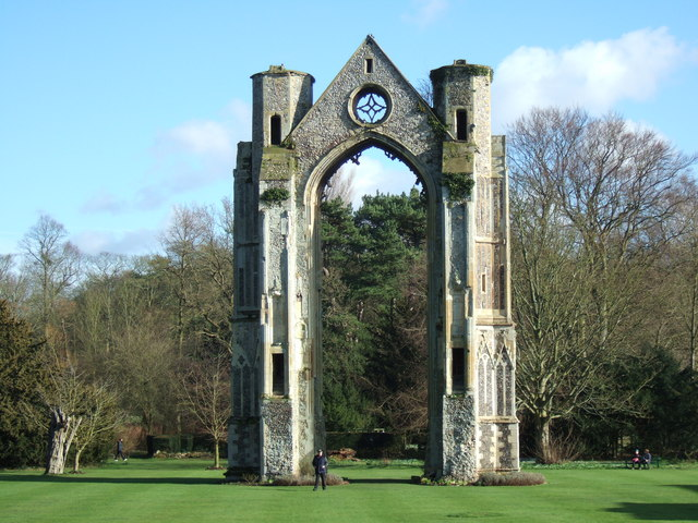 East window of the priory, Little Walsingham