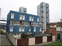 TQ2976 : Buildings by Wandsworth Road by Derek Harper