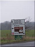 TM3763 : Roadsign on the A12 Saxmundham Bypass by Adrian Cable