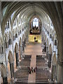 SK9771 : Lincoln Cathedral Nave by Julian P Guffogg