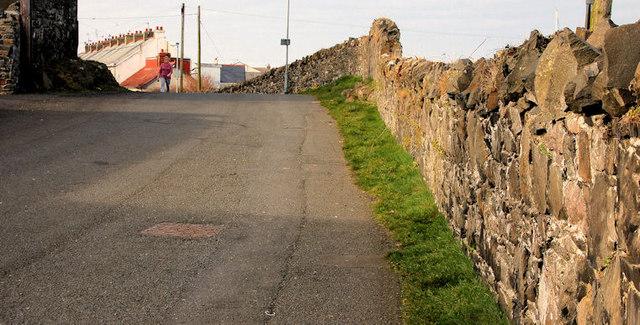 Old railway wall, Donaghadee