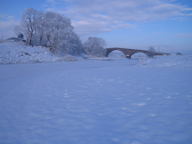 The River Clyde in winter's grip