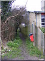 TM3763 : Footpath to the A12 Saxmundham Bypass by Geographer