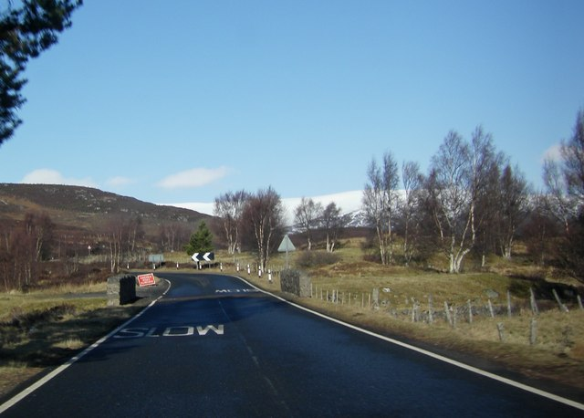Bridge on A889 crossing Allt Breakachy