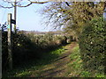 TM2750 : Bridleway to Valley Farm Road by Adrian Cable