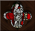 TL3746 : Holy Trinity, Meldreth - Stained glass window by John Salmon