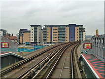 TQ4380 : In Gallions Reach DLR station by Robin Webster