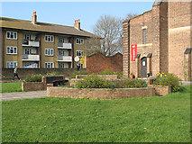TQ3871 : St John's church: garden by Stephen Craven