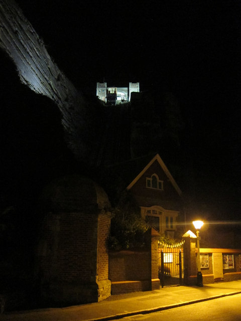 East Hill Funicular Railway at night