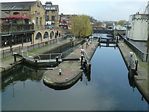 TQ2884 : Hampstead Road Lock on the Regent's Canal by Graham Hogg