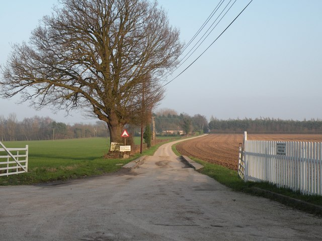 The road to Stanchils Farm