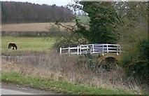 TF9235 : Small bridge over the river Stiffkey by Nick Beale