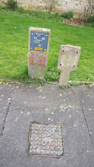 Stop Valve sign and cover
