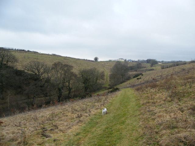 Footpath from Chilcott Lane towards Chiltons