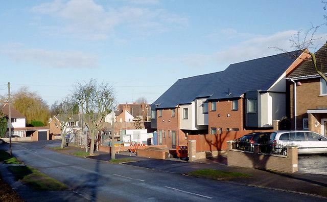 New houses on Sandringham Road in Penn, Wolverhampton