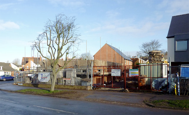 New houses on the Battle of Britain site in Penn, Wolverhampton