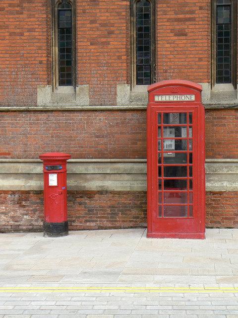 Postbox and phone box